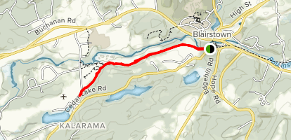 Paulinskill Valley Trail: Blairstown to Marksboro Map