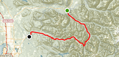 Mountain Loop Highway Map
