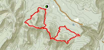 Mink Hollow Devil's Path Loop Trail Map