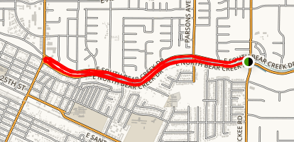 Merced Bike Path Map