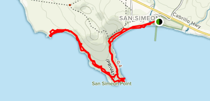 San Simeon Bay Trail Map