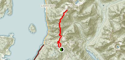 Howe Sound Crest Trail Map