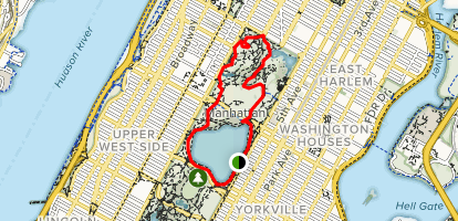 Central Park North Woods Trail Map