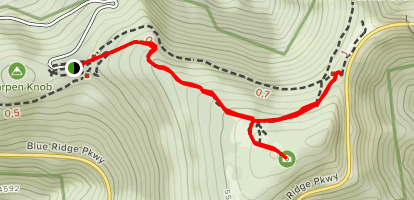 Craggy Gardens Trail Map
