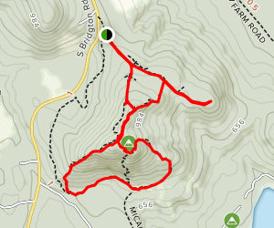 Bald Pate Mountain Trail Map