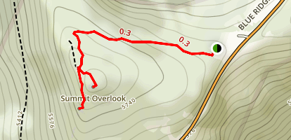 Craggy Pinnacle Trail Map