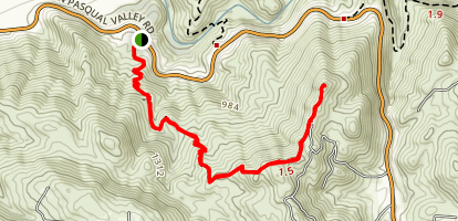 Clevenger Canyon South West Trail Map
