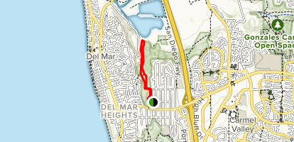 Crest Canyon Open Space Preserve Loop Trail Map