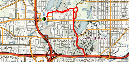 Theodore Wirth MTB Trail Map