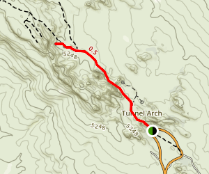 Landscape Arch Trail Map