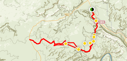 Gemini Bridges Trail Map