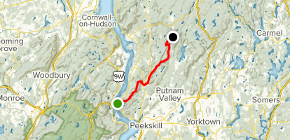 Appalachian Trail: Fort Clinton to Dennytown Map