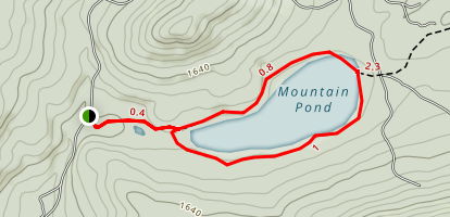 Mountain Pond Trail Map