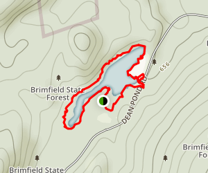 Brimfield State Forest Map
