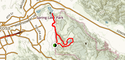 Canyon Trail to Spring Creek Trail Loop Map