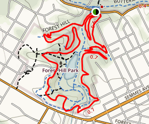 Forest Hill Park Trail Map