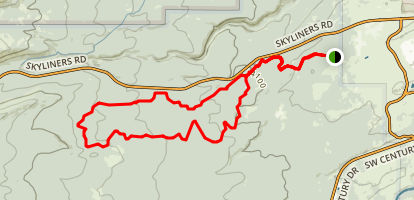Phil's Jim's and Kent's Trails Map