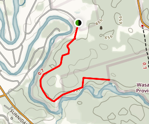 Wasaga Section Ganaraska Hiking Trail  Map