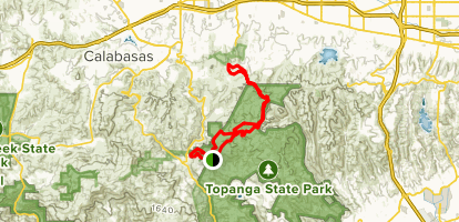 Topanga Henry Ridge Trail Map