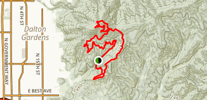 Canfield Mountain Mecca Trail Map