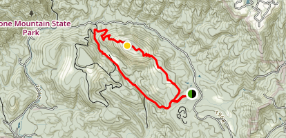 Stone Mountain Loop Trail Map
