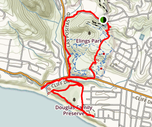 Elings Park Sierra Club Trail Map