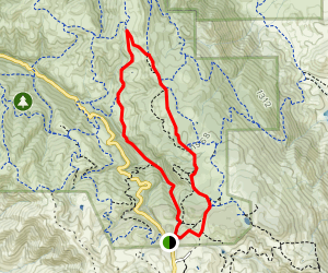 Coyote, Stone Corral, Volvon Trail Loop Map