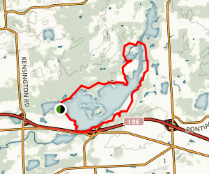 Kensington Metropark Trails Map