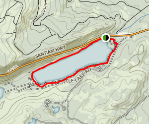 Suttle Lake Loop Trail Map