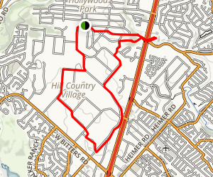 Hill Country Village-Hollywood Park Walk Loop Map