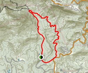 Asbury Trail Loop Hike Map