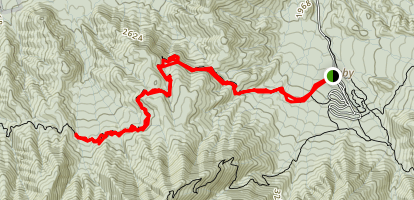 Gabes Mountain Trail to Greenbrier Creek Map