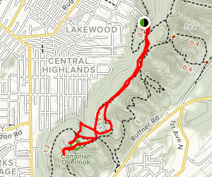 Ruffner Mountain Quarry Trail Map