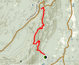 Cave Creek Trail Cheaha Mountain Map