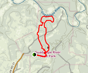 Guadalupe River State Park Loop Map