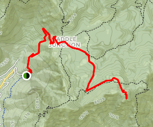 Red Tahquitz via Caramba Trail Map