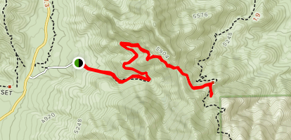 East Cottonwood Spring Trail Map