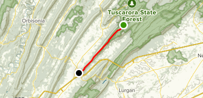 Tuscarora Trail - Knob Mountain Map