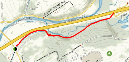 Bloomsburg Railroad Bed Map