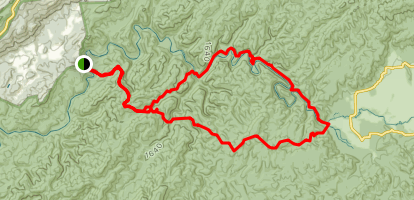Rabbit and Abrams Creeks Loop Trail Map