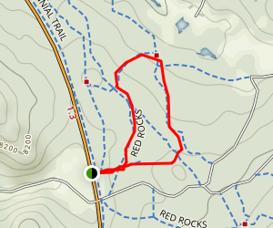 Red Rocks Campground Loop Map