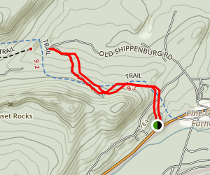 Pine Grove Furnace to Toms Run Map