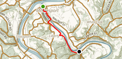 Yough River Trail - McKeesport to Boston Map