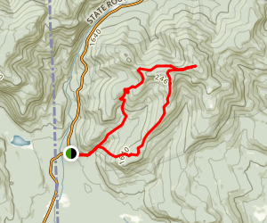 Speckled Mountain Loop Map
