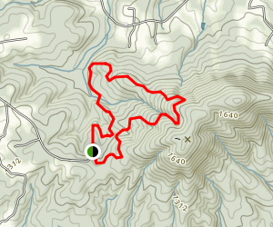 Bakers Mountain Loop Hike Map