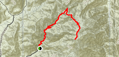 Kitching Peak Trail Map