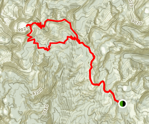 Harbor and Wilson Lakes loop Map