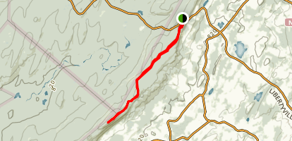 Sunrise Mountain via Appalachian Trail Map