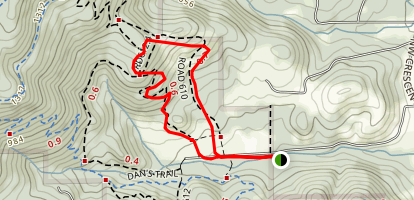 Lower Horse Trail 610 Loop Map