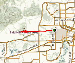 OSU to Bald Hill Map